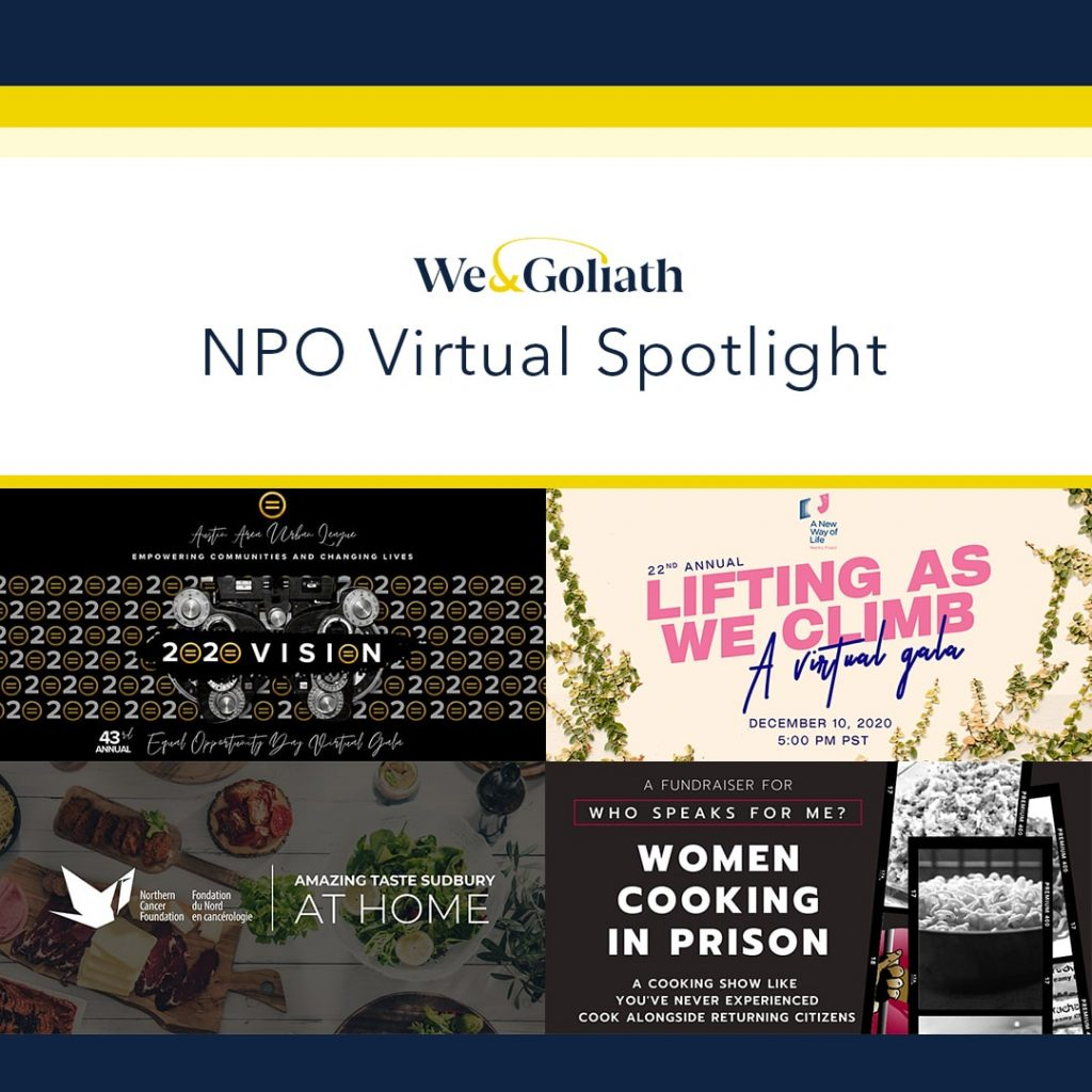 Nonprofit virtual events spotlight