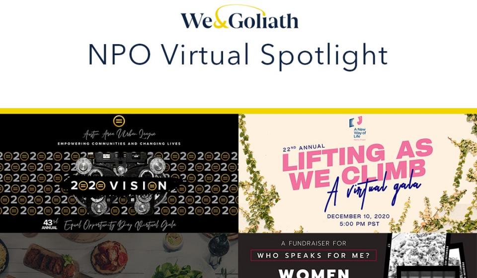 Nonprofit virtual events spotlight