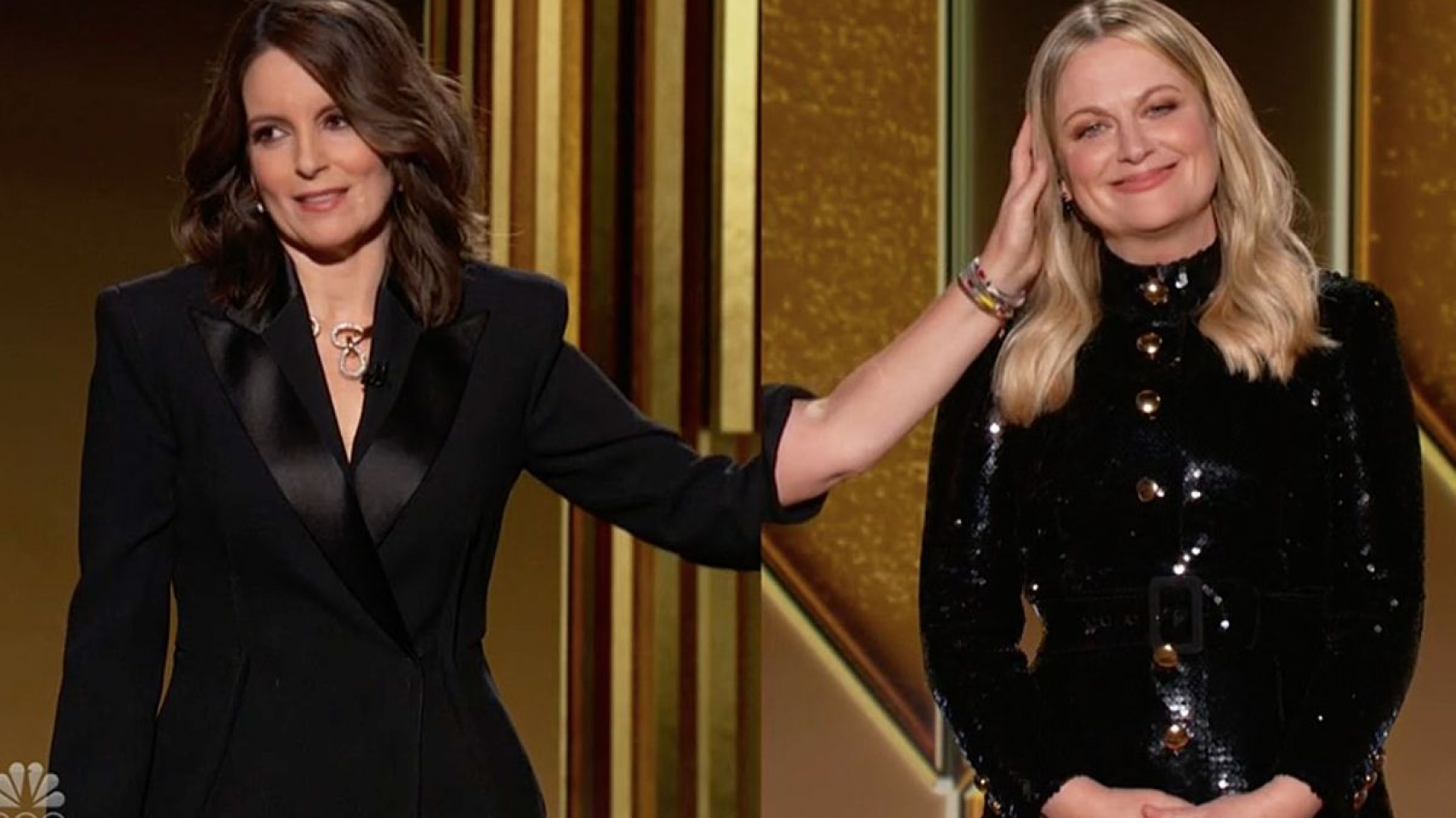 Tina Fey and Amy Poehler at the 78th Golden Globes